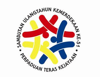 Logo Merdeka 2008- Perpaduan Teras Kejayaan