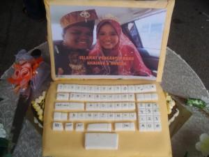 kek kahwin Geek