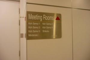 Nama-nama untuk bilik mesyuarat